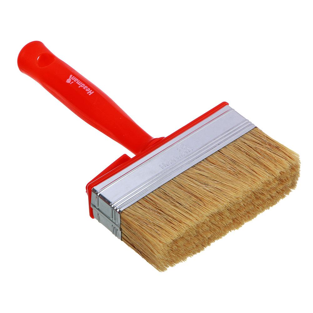 HEADMAN Кисть мини-макловица пластиковая ручка нат. щетина 30*120