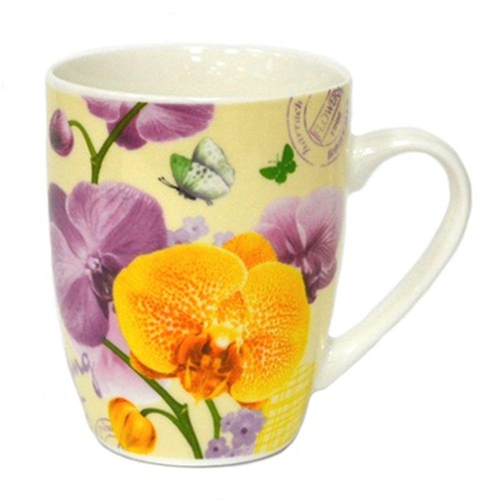 Кружка 350мл, Орхидея ВРМ099