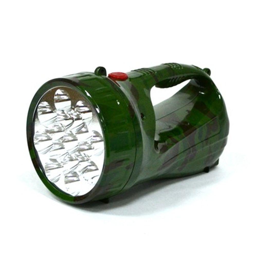 Фонарь аккумуляторный, 17 светодиодов, на подвесном ремне, камуфляж, 2804