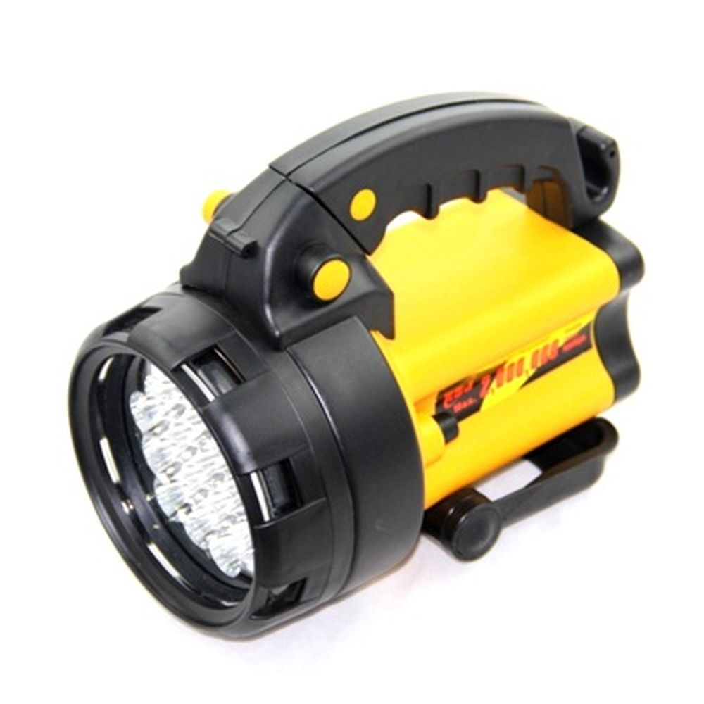 Фонарь аккумуляторный, 19 светодиодов, с сигнальным огнем, 152-20