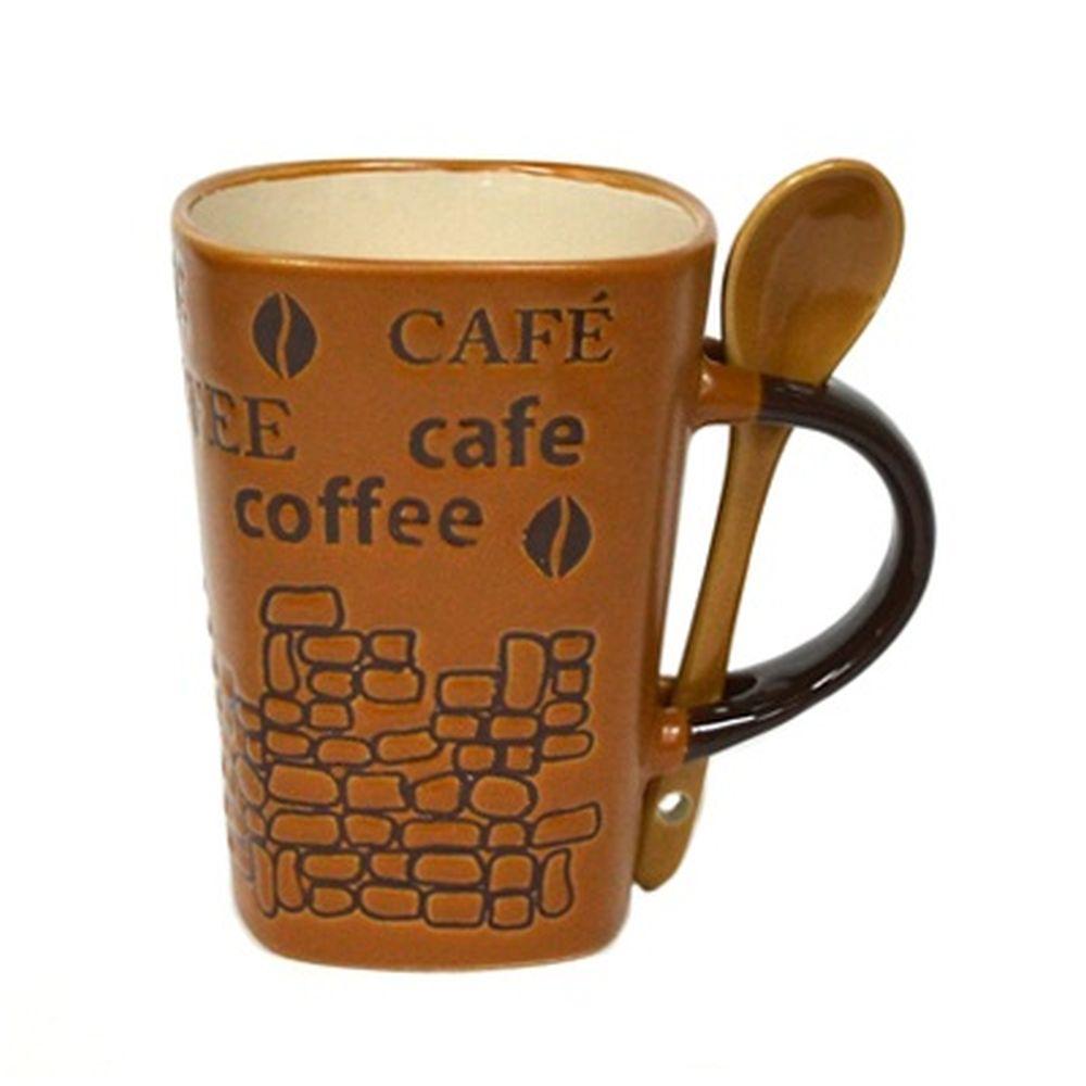 Кружка 360мл, Coffee с ложечкой инд упак SX012