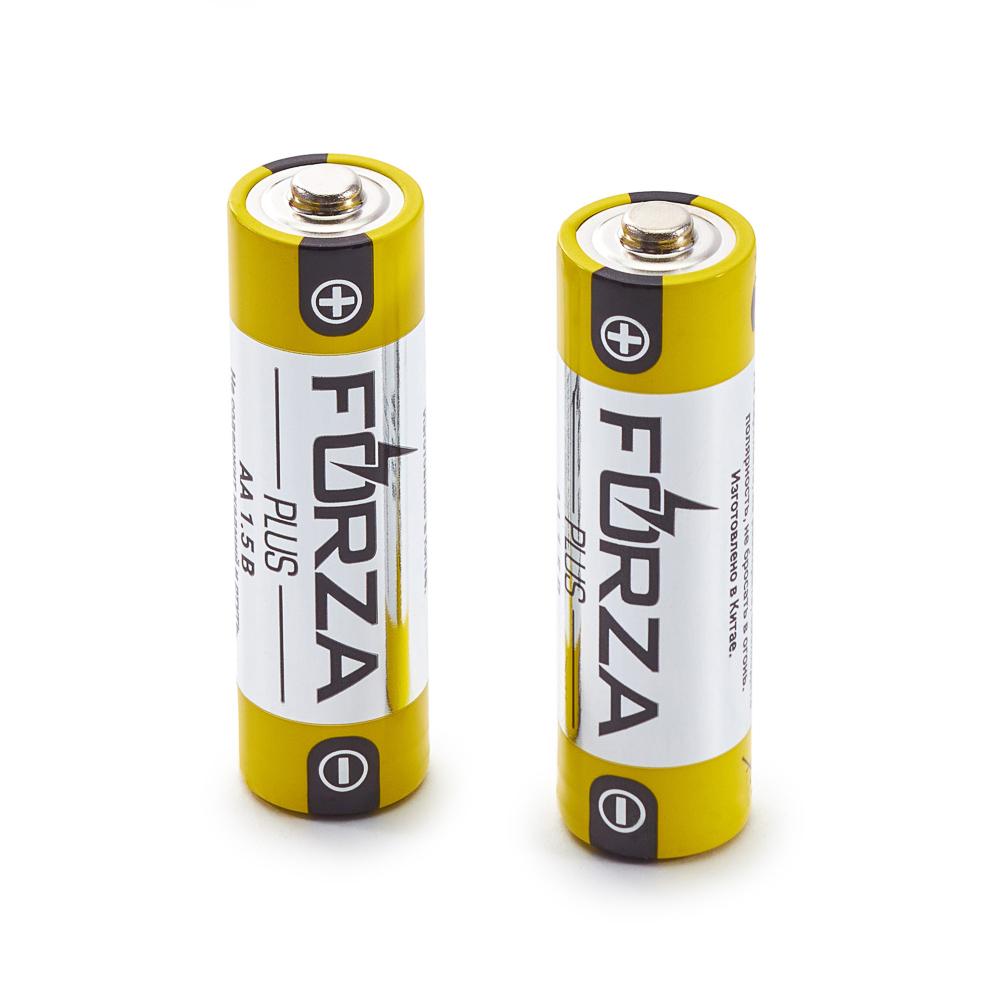 """Батарейки щелочные, 2 шт, щелочная, тип AA (LR6), BL, FORZA """"Alkaline"""""""