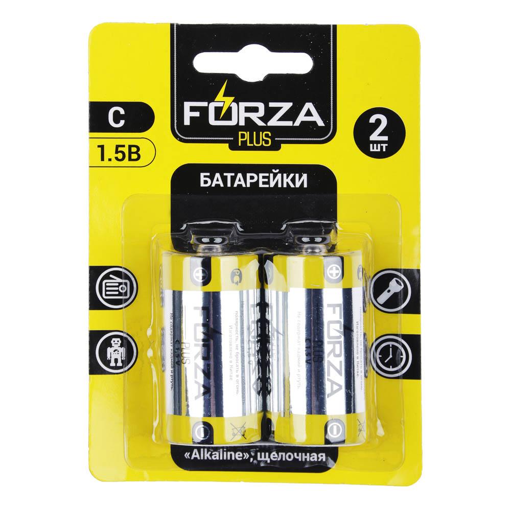 "Батарейки щелочные, 2 шт, щелочная, тип C, BL, FORZA ""Alkaline"""