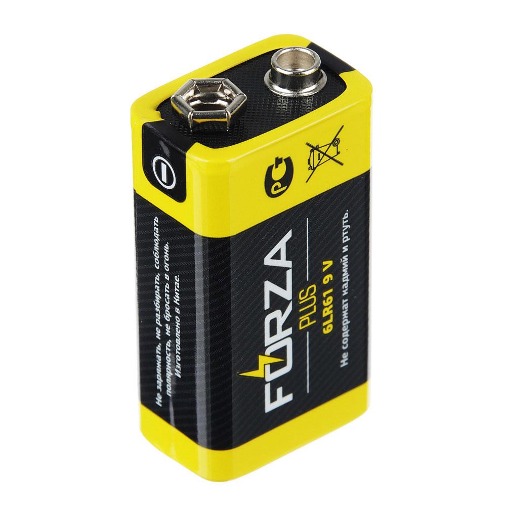 "Батарейка щелочная, 1 шт, тип Крона (6LR61), BL, FORZA ""Alkaline"""