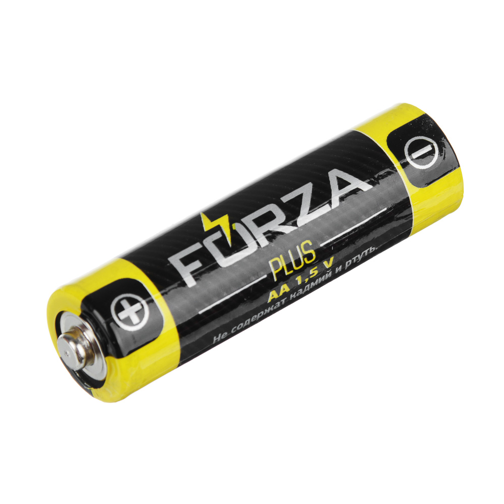 "Батарейки солевые, 4 шт, тип AA (R6), плёнка, FORZA ""Super heavy duty"""