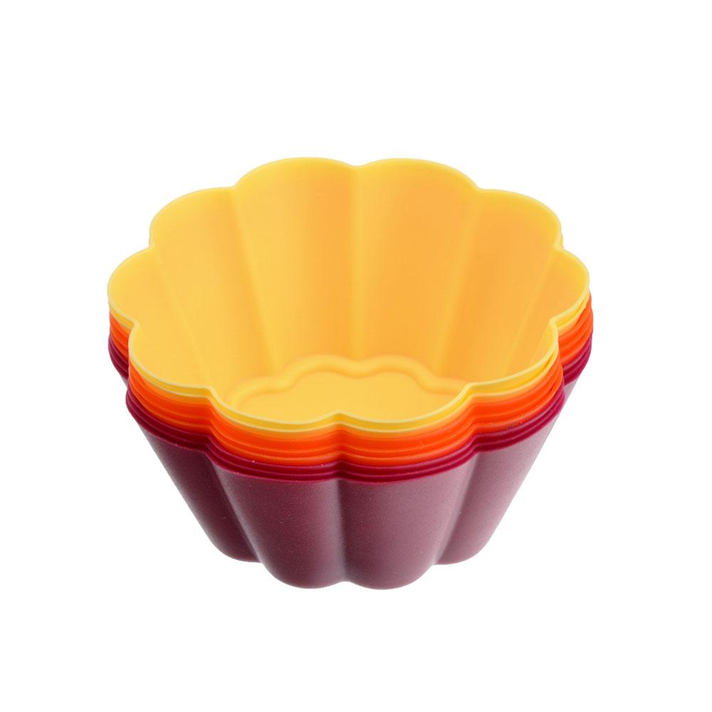 Набор форм для выпечки VETTA Ромашка, 7х3 см, силикон