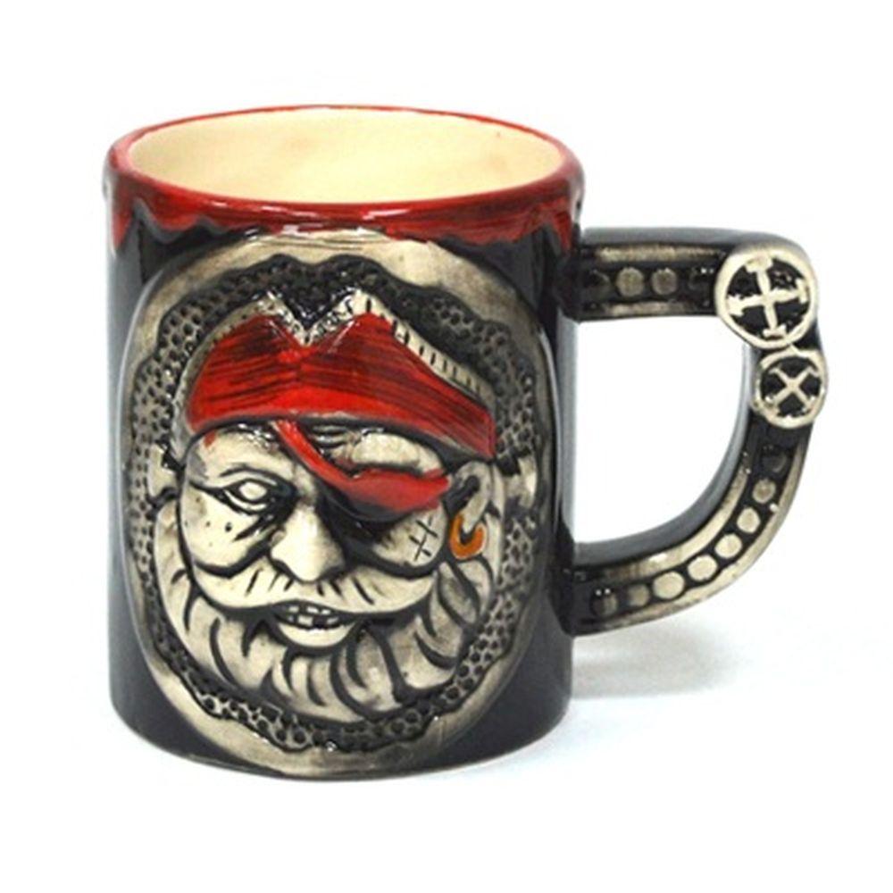 """Кружка пивная 350мл, керамика, """"Пираты"""", микс, 8011"""