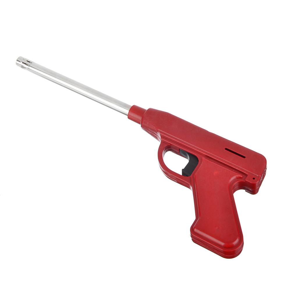 Зажигалка пьезо-пистолет, блистер, JZDD-17
