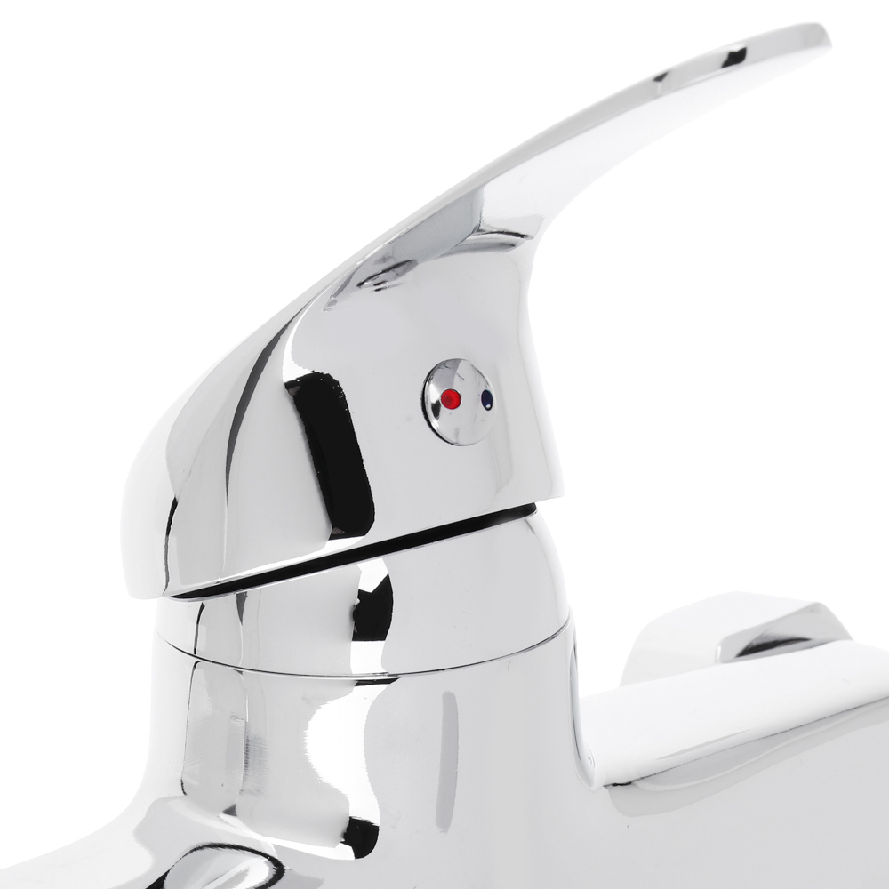 Смеситель для ванны, длинный изогнутый излив 30 см, керамический картридж 35 мм, хром, Klabb 15