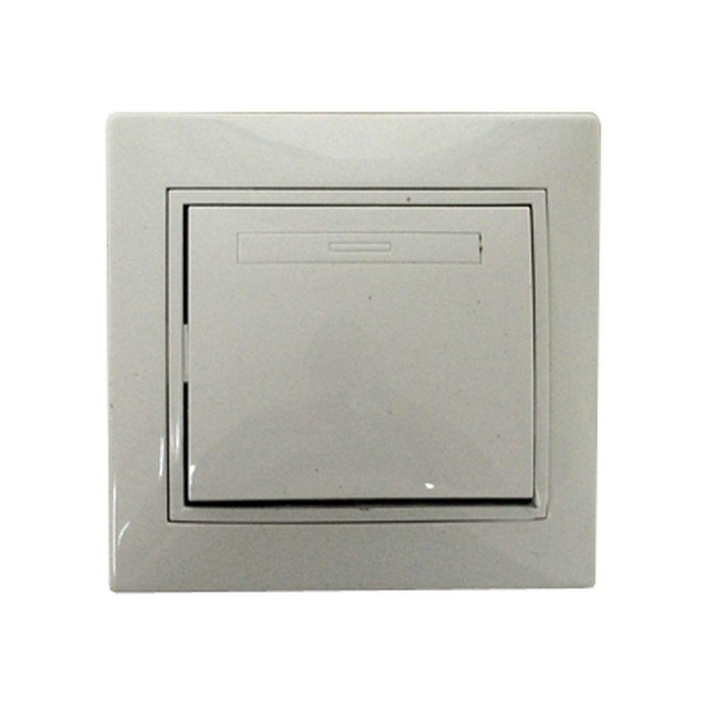 Выключатель Гранд одноклавишный, цвет белый, R1801