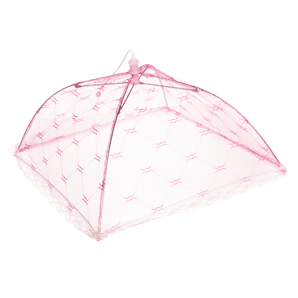 Чехол-зонтик для пищи, 40х40см, полиэстер, 4 цвета   49х8х2,5