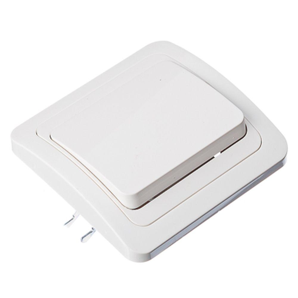 FORZA Классика Выключатель одноклавишный, цвет белый 10А 250В, огнеупорный пластик