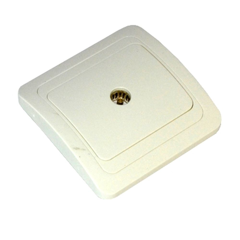 FORZA Классика Розетка телевизионная, цвет белый 16А 250В, керамика