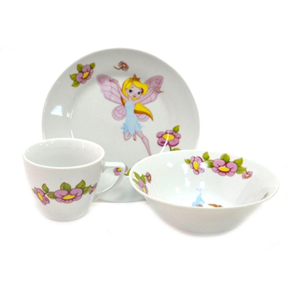 Набор детский 3пр Феечки (тарелка 175мм, салатник 150мм, чашка 185мл) 833