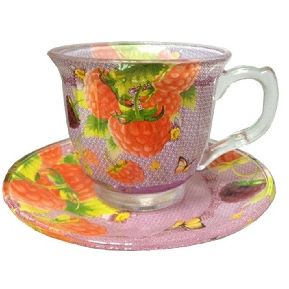 """VETTA Набор чайный 12 пр. """"Малина"""", 220мл, стекло, в подароч. упак."""