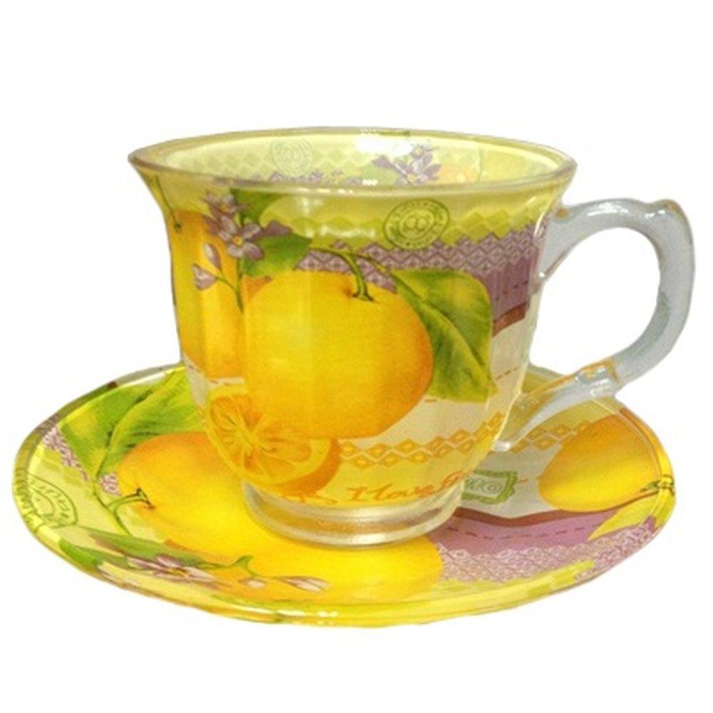 """VETTA Набор чайный 12 пр. """"Апельсин"""", 220мл, стекло, в подароч. упак."""