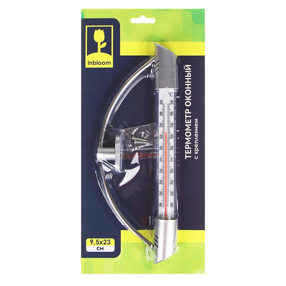 INBLOOM Термометр оконный с креплением 9,5х23см, блистер