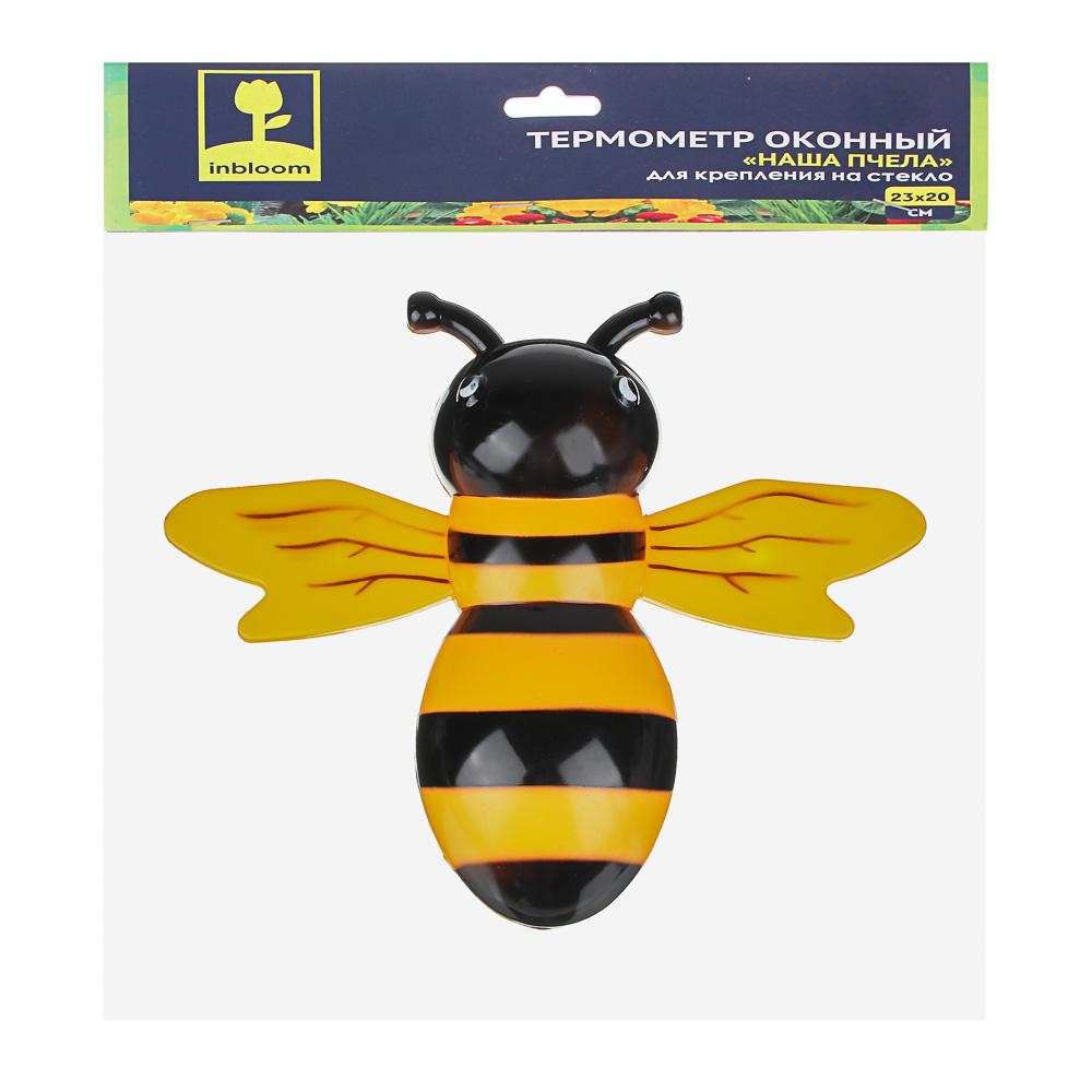 """INBLOOM Термометр оконный """"Наша Пчела"""" 23x20см, для крепления на стекло, пакет"""