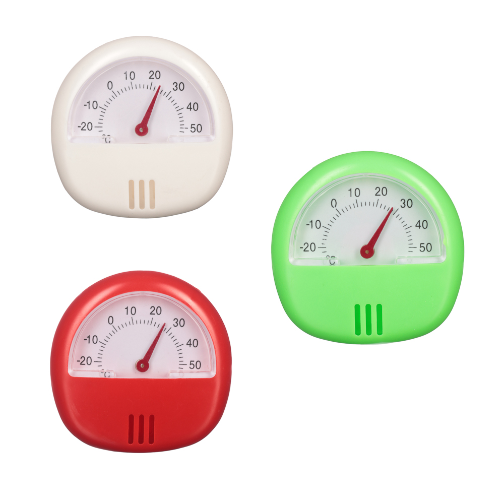 INBLOOM Термометр с магнитом, пластик, 5,7х5,7см, 3 цвета, на блистере