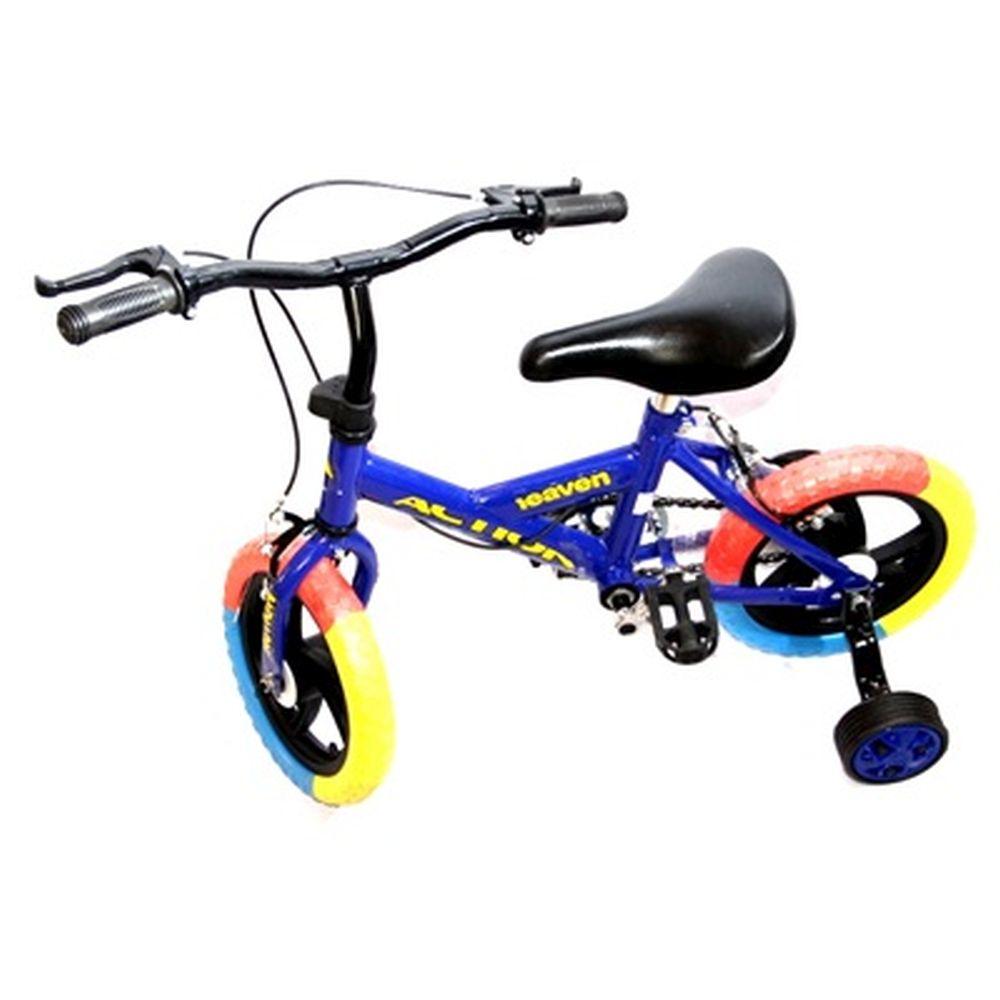"""Велосипед двухколесный 12"""" (со съемными боковыми) цвет микс. арт.1-1-12"""
