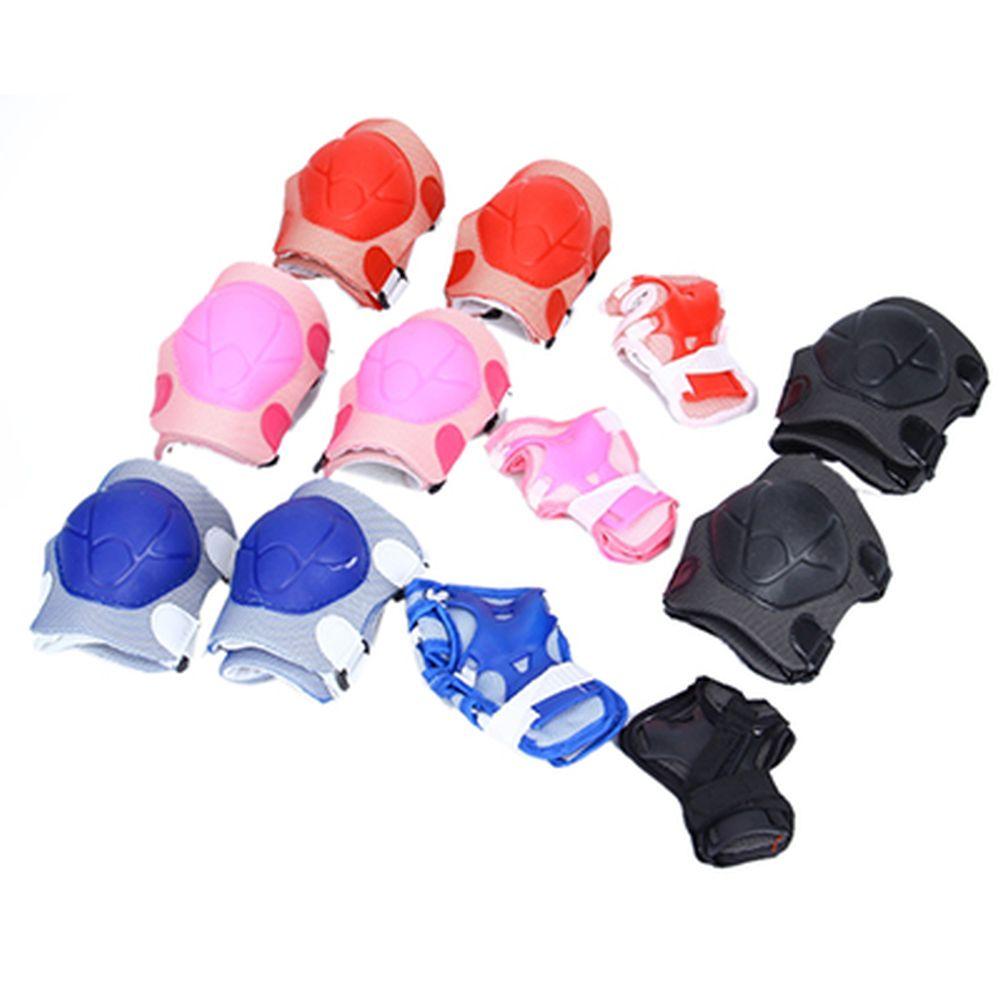 Набор защиты (колени, локти, запястья) 4 цв., черный, красный, синий, розовый, размер L, 2019