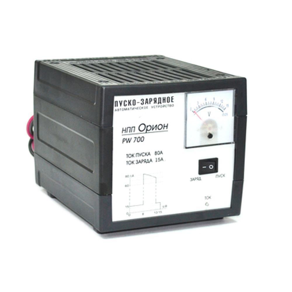 ОРИОН Пуско-зарядное устройство PW700 пусковой ток 80А, зарядный ток10А, стрел. индик, автомат режим