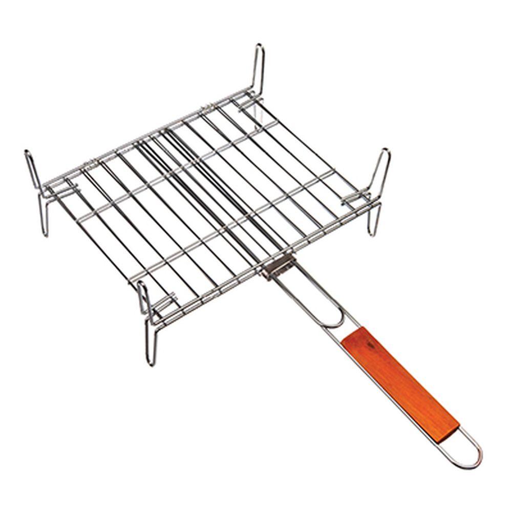 GRILLBOOM Решетка-мини мангал 32x27x14см, деревянная ручка
