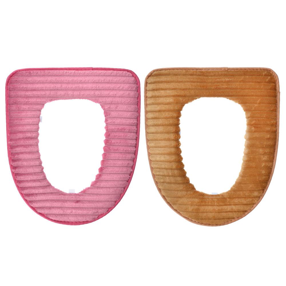 """Чехол для сиденья унитаза, искусственный мех, ПВХ, 44х37см, 5 цветов, """"Велюр-2"""""""
