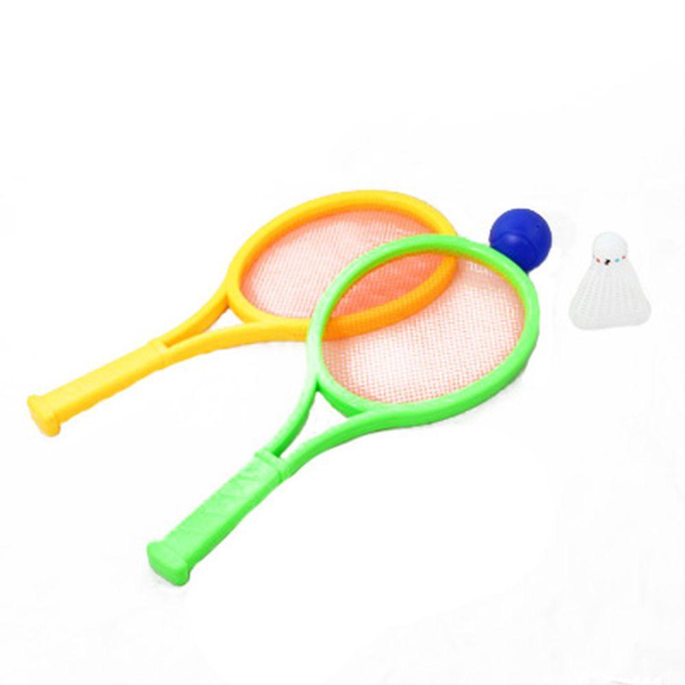 Ракетки пластик с воланчиком и мячом, набор малый h35см