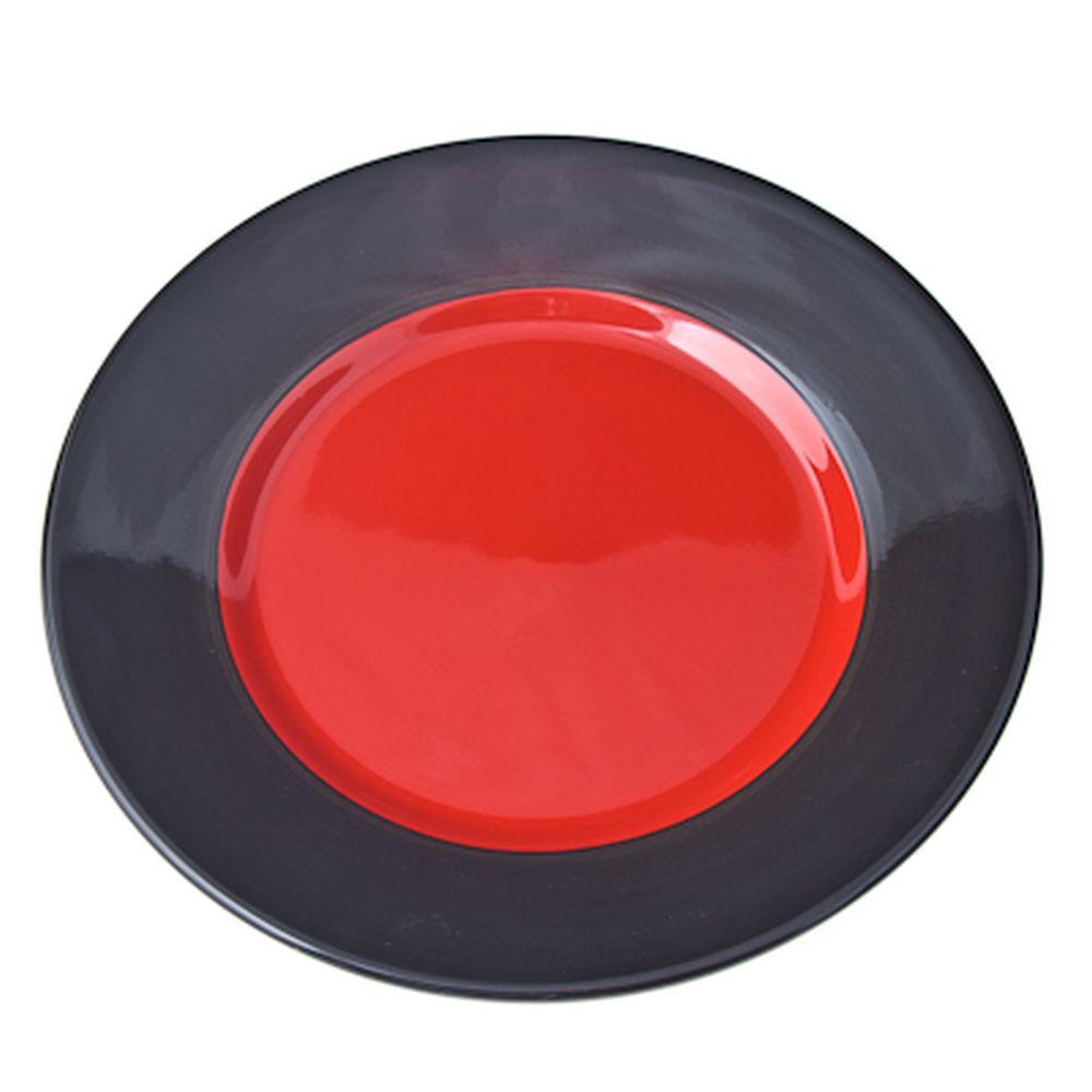 Kioto Duo Тарелка десертная 19см, черно-красн, керамика
