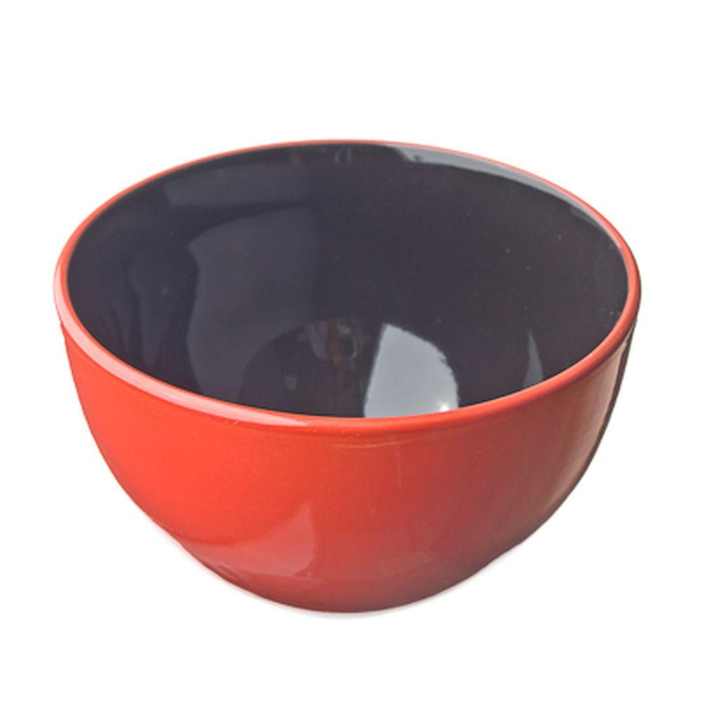 Kioto Duo Салатник 14см, черно-красн, керамика
