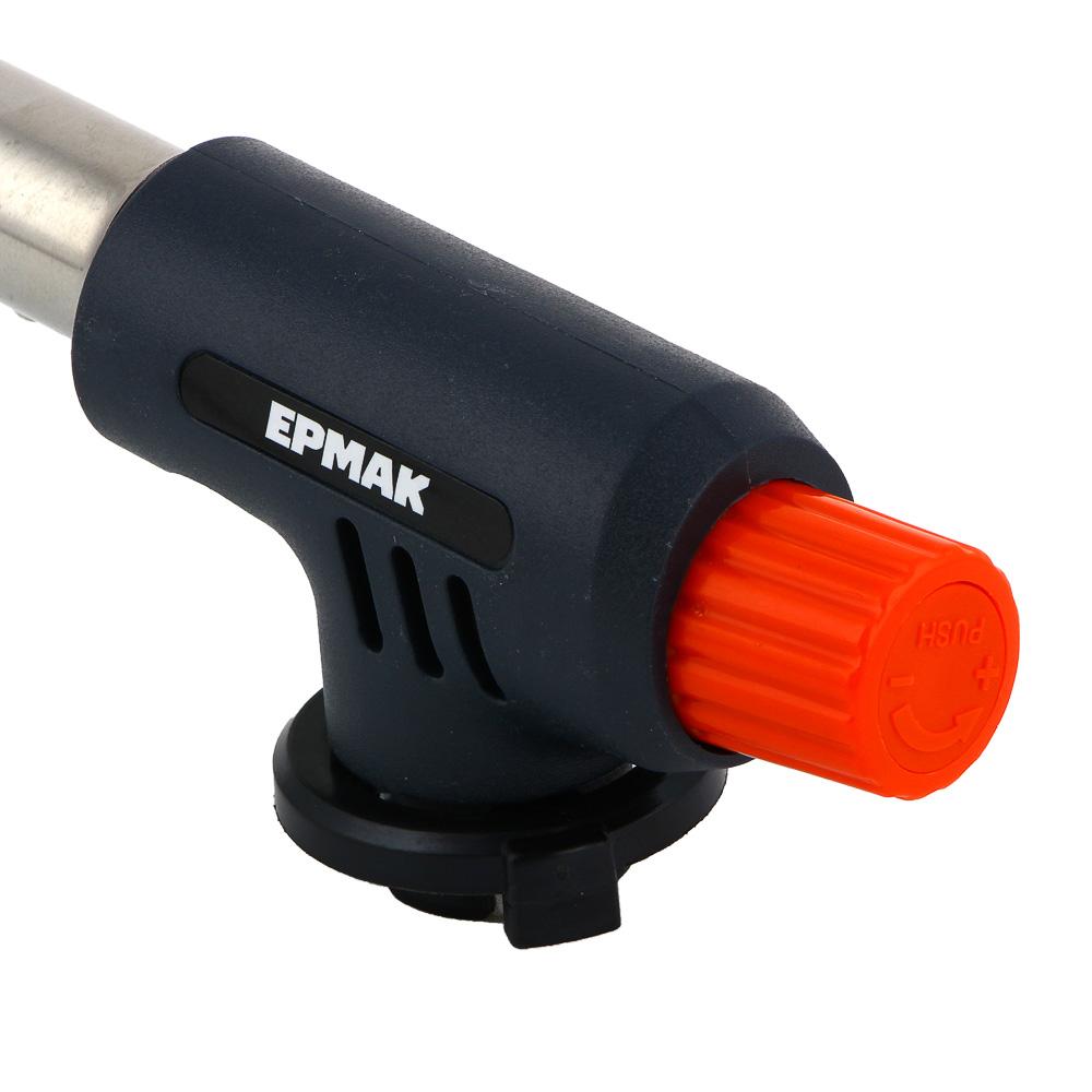 Горелка газовая ЧИНГИСХАН с пьезорозжигом, цанговый захват, широкое сопло; 15х4х5,5см
