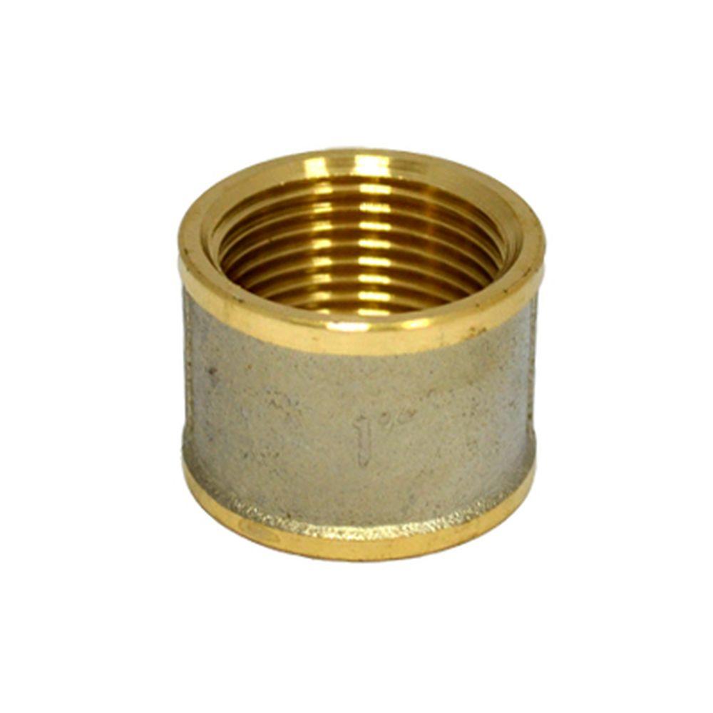 FRESSO ПРОФФ Муфта латунь с никелированным покрытием Ду25 арт 7017