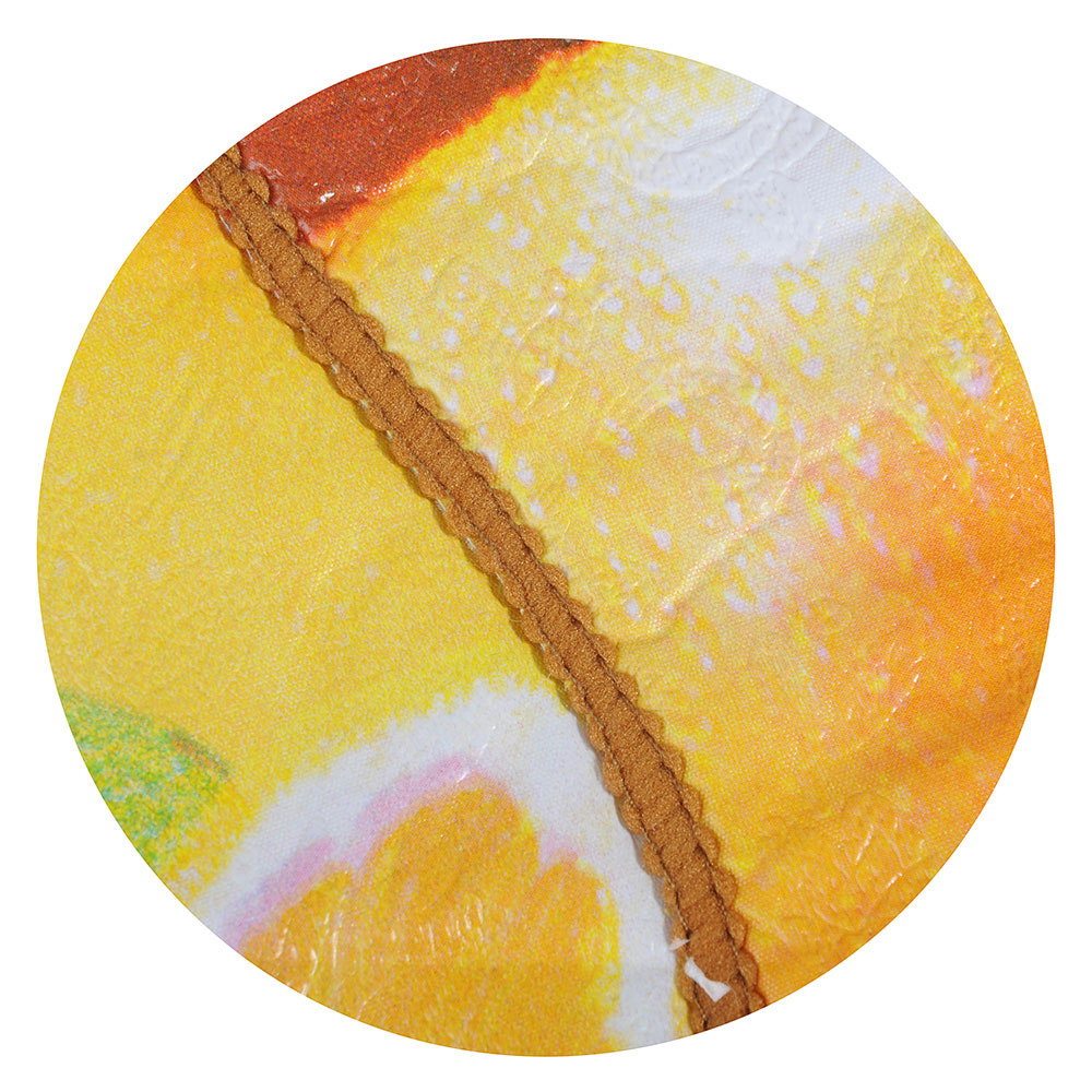 Скатерть на стол виниловая, на фланелевой основе с каймой, круглая, d137см, VETTA