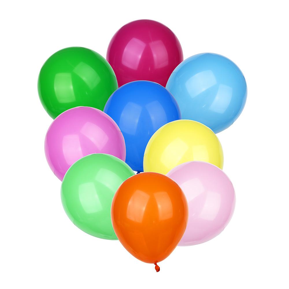 """Набор воздушных шаров 10шт, латекс, 10"""", микс цветов пастель"""