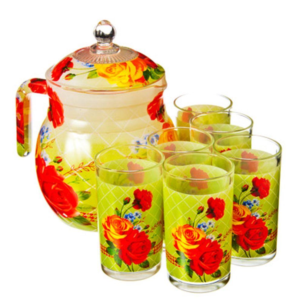 "VETTA Набор 7 пр. (стаканы 6шт 250мл, кувшин 1,5л с крышкой), стекло, подар.уп, ""Бьюти"""
