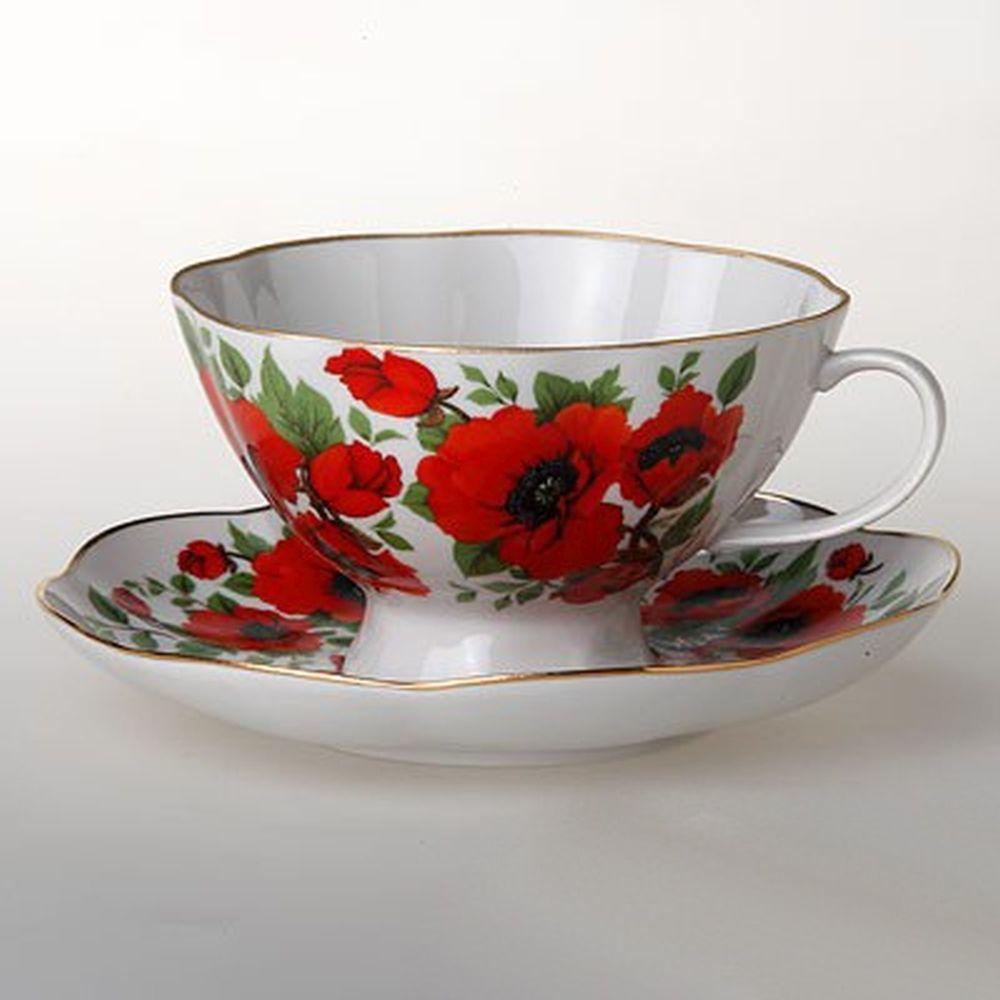 Чайная пара 270мл Маки в подар упак 29951530 ФВ