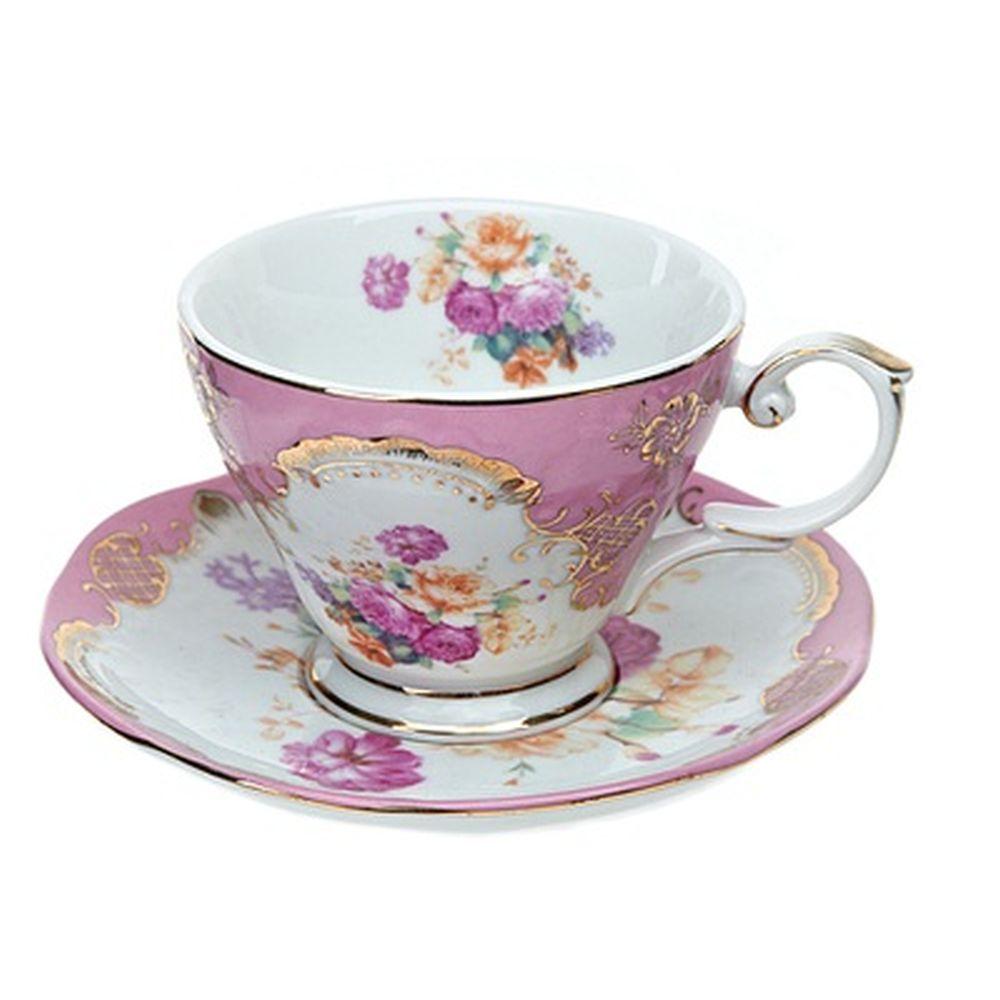 Набор чайный 2 пр. 220мл розовый, подар упак, 1220006