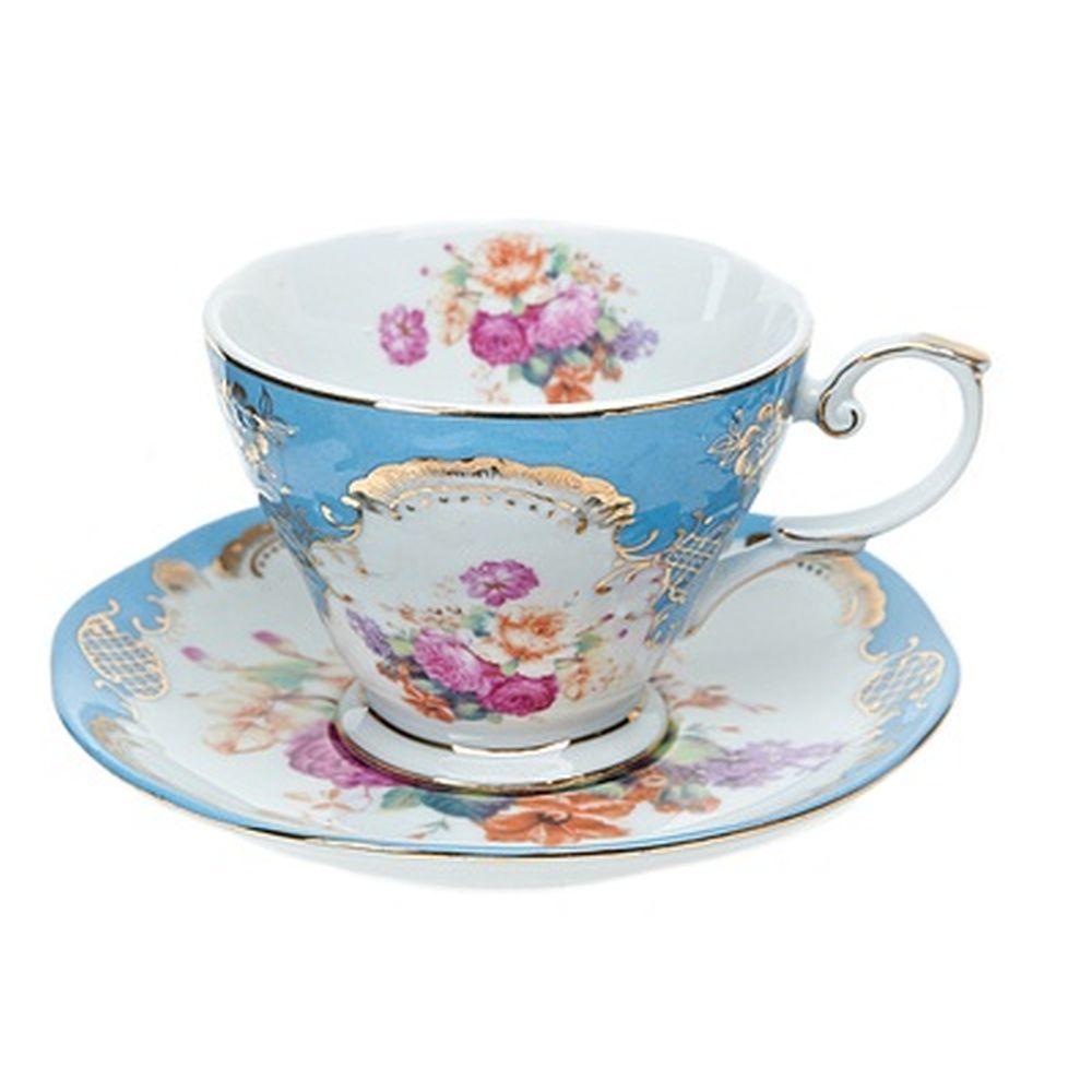 Набор чайный 2 пр. 220мл голубой, подар упак, 1220009