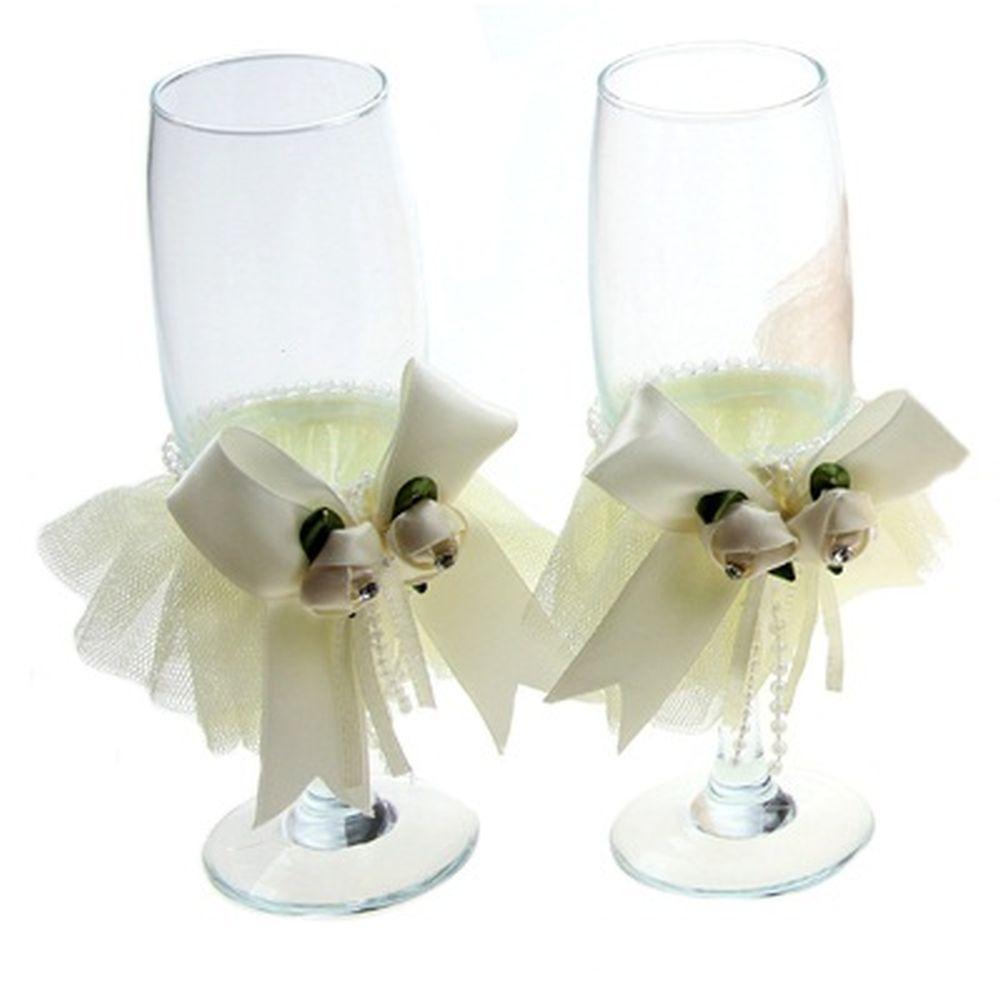 Набор бокалов 2шт, свадебные, 4 цвета