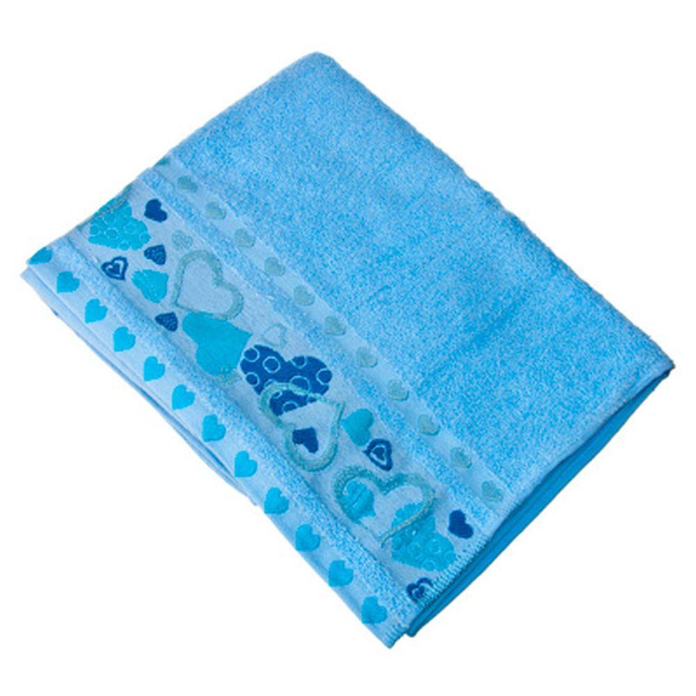 VETTA Полотенце банное, 100% хлопок, 50x90см, Liguria голубое