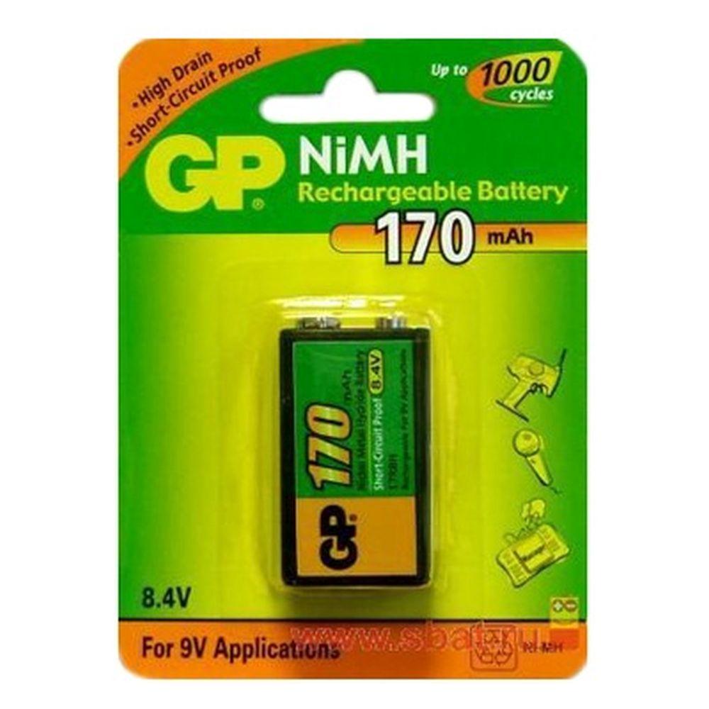 Аккумулятор 1 шт в уп. GP 17R8H /6F22 170mAh 8.4V BL1