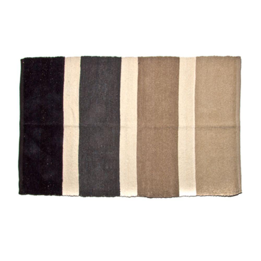 VETTA Коврик интерьерный, хлопок 100%, 80x130см, полосатый, коричневый
