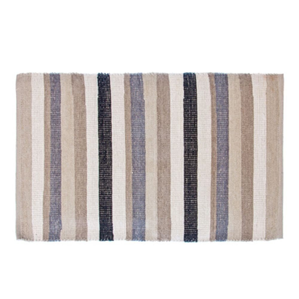 VETTA Коврик интерьерный, хлопок 100%, 60x90см, полосатый, серый