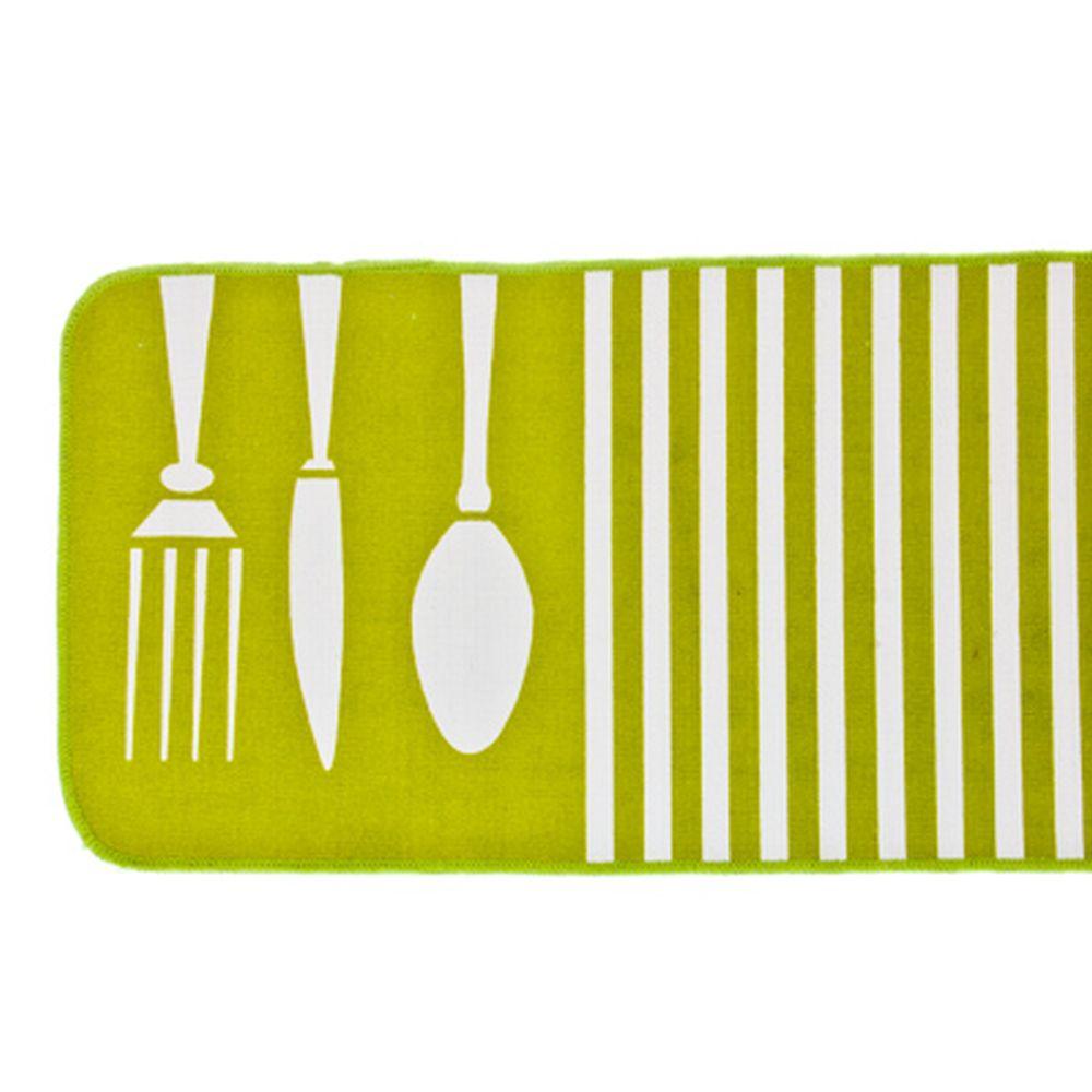 VETTA Коврик для кухни антискользящий, 45x120см, зелёный