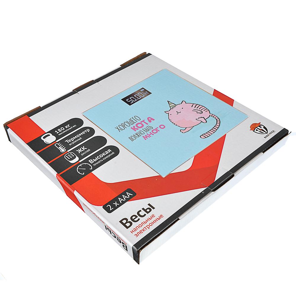 Весы напольные электронные до 180 кг, ЖК-дисплей, VS-019