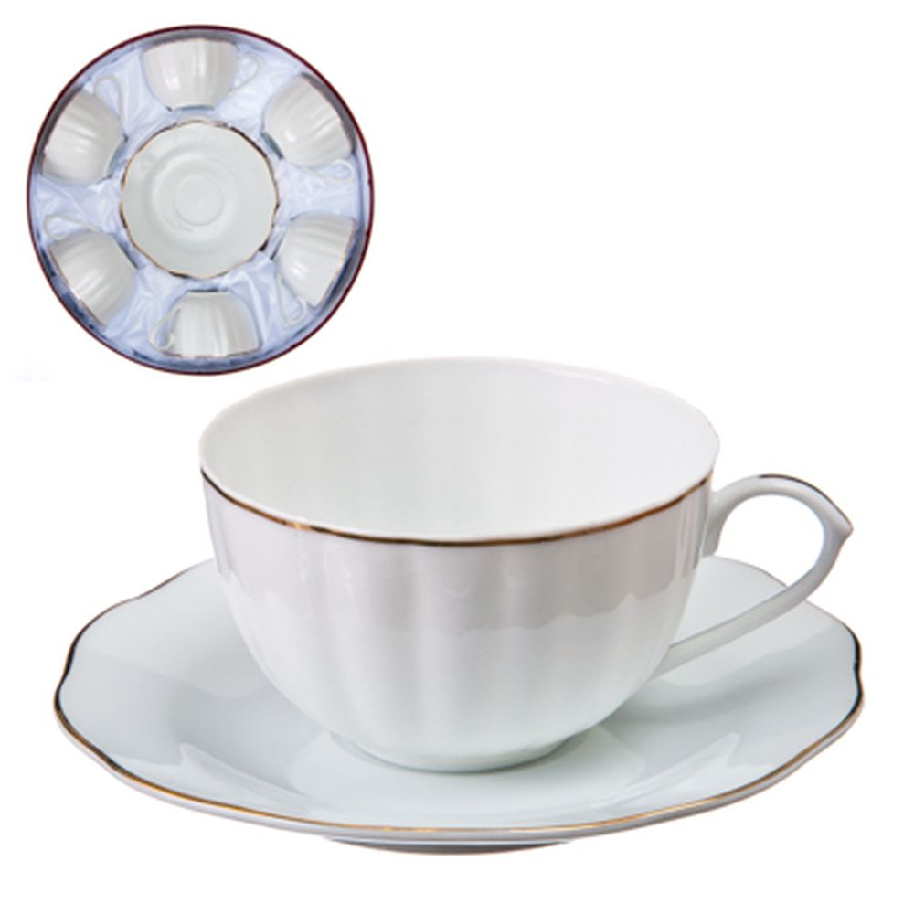 """Набор чайный 12 пр., 270мл, тнк. фрф, подар.уп, """"Классика, с золотом"""""""