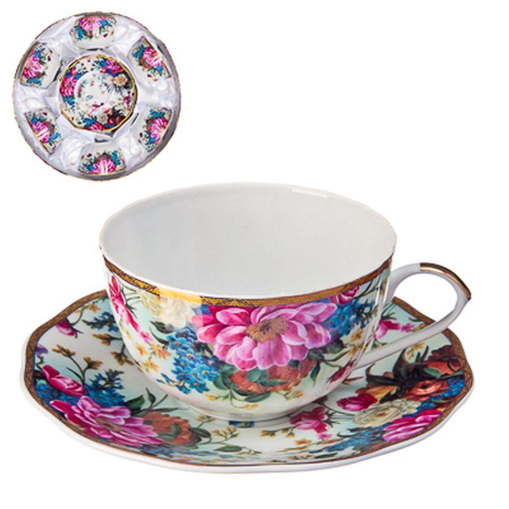 """Набор чайный 12 пр., 270мл, тнк. фрф, подар.уп, """"Французский сад"""""""