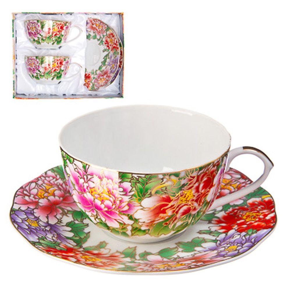 """Набор чайный 4 пр., 270мл, тнк. фрф, подар.уп, """"Цветочная симфония"""""""