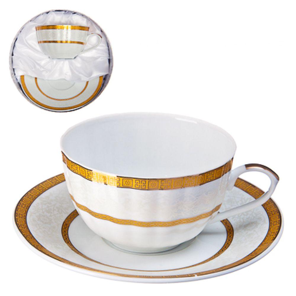 "Набор чайный 2 пр., 270мл, тнк. фрф, подар.уп, ""Gold rings"""